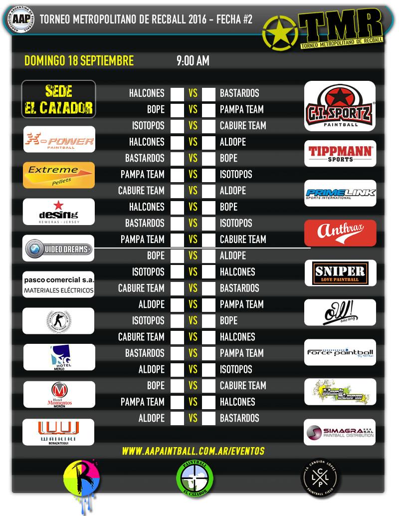 schedule-fecha2-sede-el-cazador